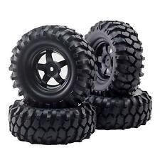 4pcs 12mm Hub Wheel Rim & Tires  for 1/10 Off-Road RC Rock Crawler Buggy Truck