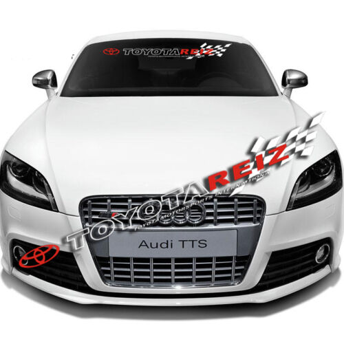 Car Front Rear Windshield Window Exterior Banner Decal Racing Sticker