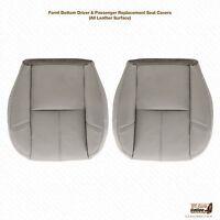 2007-2012 Gmc Yukon Xl Driver & Passenger Bottom Leather Seat Cover Color Gray