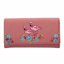 Pink Floral Flamingo Vintage 50s Rockabilly Retro Wallet Purse UK