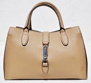 ae90621c83a4f2 Gucci Women's Jackie Soft Leather Top Handle Bag, Camel, Medium ...