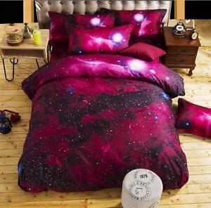 Galaxy-3D-Bedding-Set-Cotton-Doona-Duvet-Quilt-Cover-Pillowcase-Twin-Queen-Size