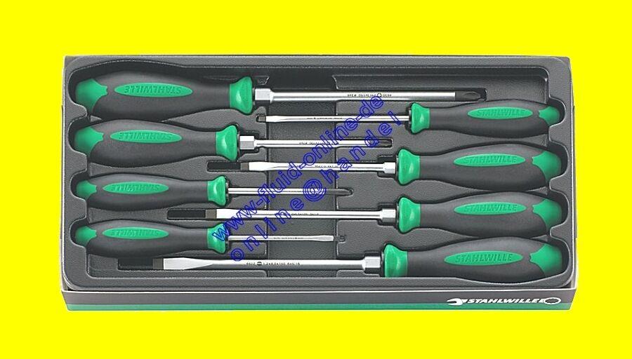 STAHLWILLE 4697 Satz Satz Satz Schraubendreher DRALL+ Kreuz & Schlitz 8tlg 96469710 - NEU fa471c