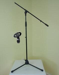 ADAM-HALL-Mikrofon-Staender-ECO-mit-Mikrofonklammer-und-Galgen-Mikrofon-Stativ