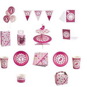 Kleiner Vogel Party Deko Set 1 Geburtstag Madchen Rosa Pink