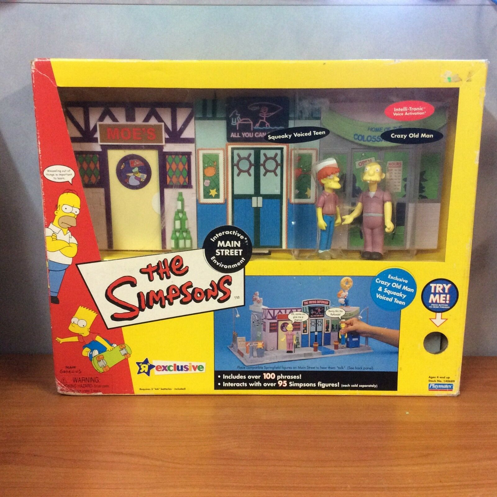 2002 The Simpsons Interactive Main Street Environment - New