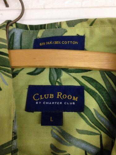 c71577a7ee5 2 of 5 Club Room Charter Club Silk Hawaiian Shirt Mens LARGE Floral