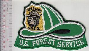 Smokey-the-Bear-USFS-Hot-Shot-Wildland-Fire-Crew-Helmet-Patch-US-Forest-Service