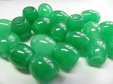 1pcs Imperial Chinese Grade A Full Rich Green Jade (Jadeite) Lucky Bead Pendant