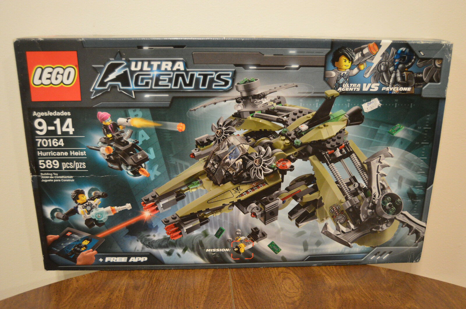 Lego Ultra Ultra Ultra Agents 70164 Hurricane Heist Retired Set 589 Pieces Brand New Sealed 06bffd