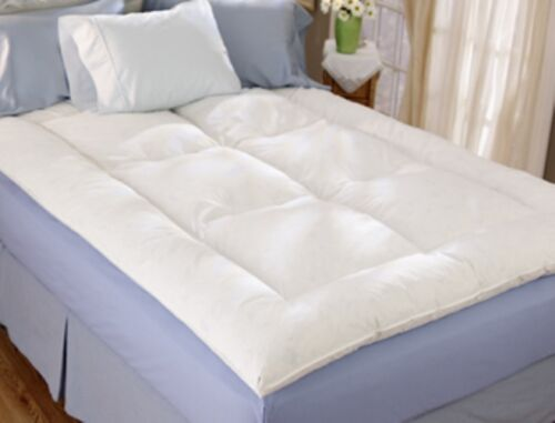 "Restful Nights ® 230 Thread Count Down Alternative 2/"" Fiber Bed Mattress Topper"