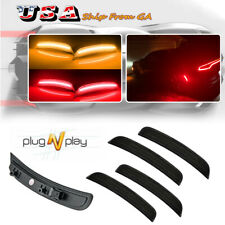 Front Rear Led Side Marker Lights Lamps For 2015 2022 Dodge Charger Smoked Lens