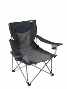 Kampa-Beach-Chair-Low-Folding-Camping-Festival-Pool-Deckchair-Lounger-Charcoal