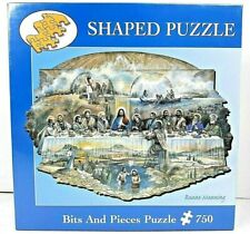 Bits and Pieces-750 Piece Shaped Jigsaw Puzzle-The Last Supper-by Ruane Manning