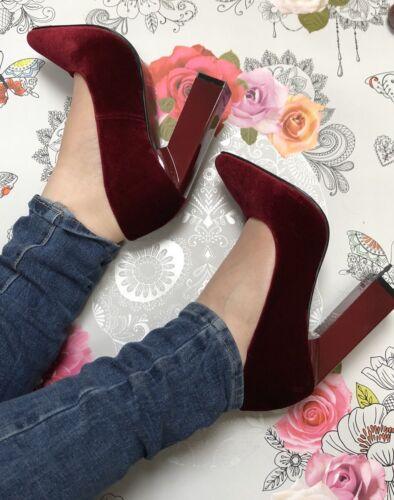 Fête De Rectangulaire 6 Talon De Shoes De Taille Red Tribunal Brillant Berry Velvet Bal Mariage 4PxaY4Iwq6
