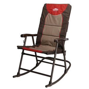 Folding Rocking Chair Lightweight Outdoor Rv Portable