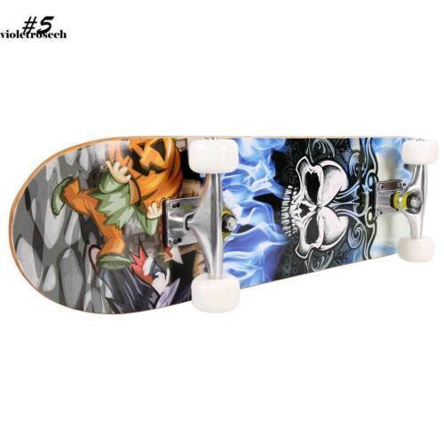 "31/"" x 8/"" Professional Skateboard Longboard Complete Truck Maple Deck Wood Gift"