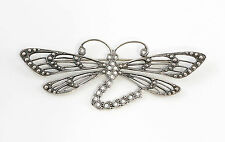 925er Silber Brosche Libelle mit Swarovski-Steinen 9901531