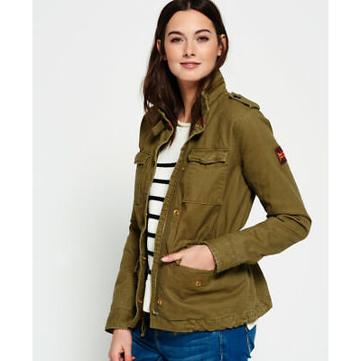 New Womens Superdry Rookie 4 Pkt Field J Swamp