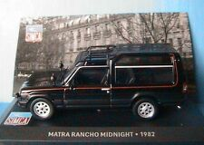 MATRA RANCHO MIDNIGHT 1982 BLACK IXO 1/43 ALTAYA NOIRE NOIR SIMCA TALBOT