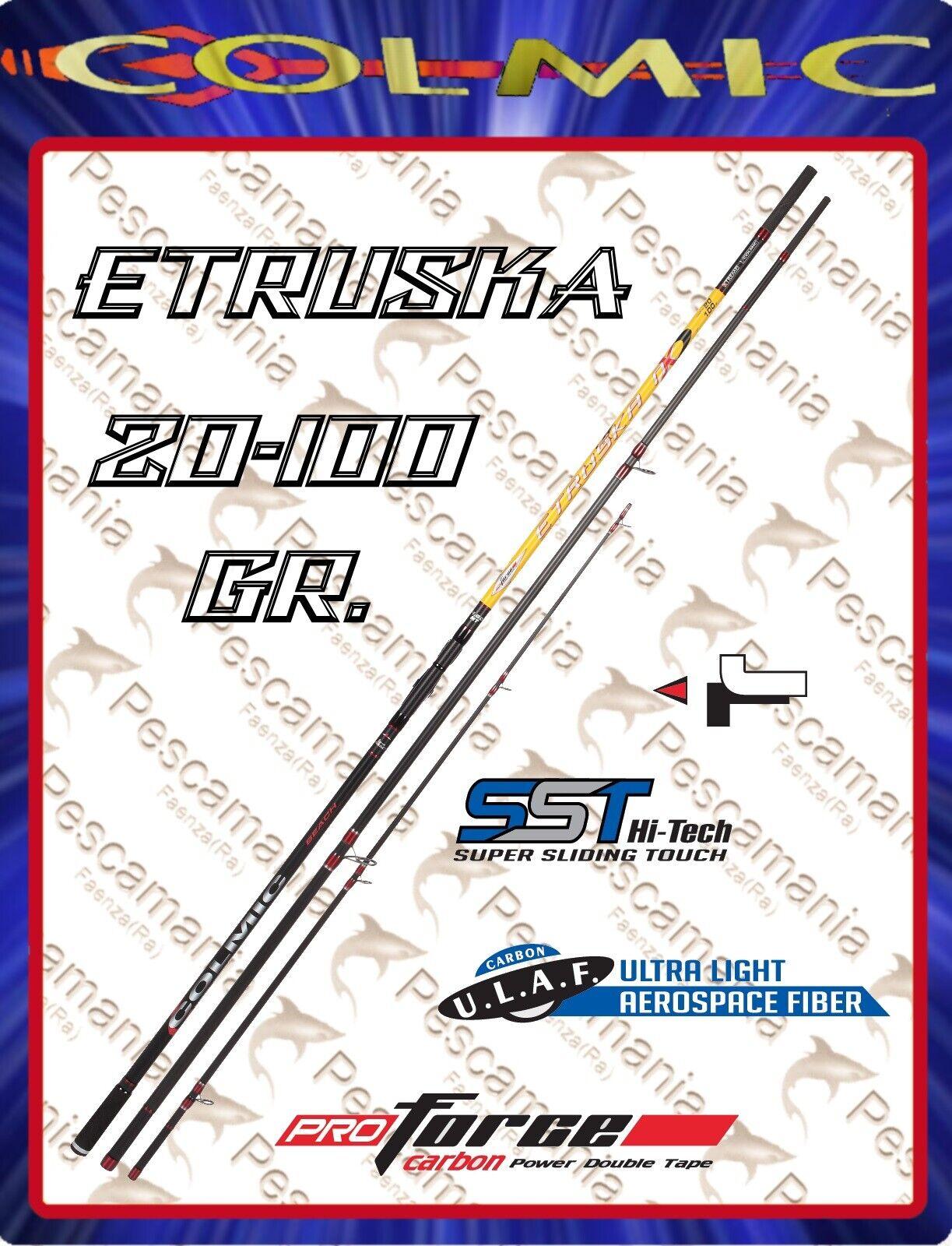 Canna Colmic ETRUSKA NX beach ledgering casting 20-100 gr 4,60-5,00mt.