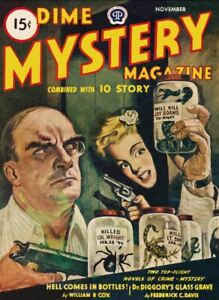 Dime Mystery Magazine - Pulp Mystery, Suspense, crime, detective  - 21 issues