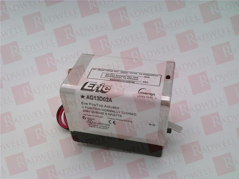 ERIE CONTROLS AG13D02A   AG13D02A (NEW IN BOX)