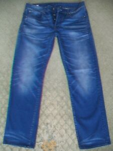 MENS-G-STAR-039-3301-STRAIGHT-039-JEANS-SIZE-33