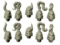 Spellcrow - 10x Casques Space Marine Du Chaos Warhammer 40k Bitz