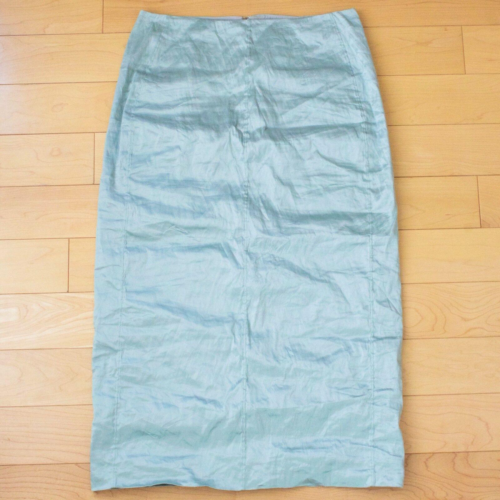 Carven - Sz 38 - Crinkle Taffeta Pencil Skirt - Jade