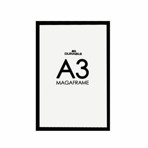 Durable Self-Adhesive Duraframe A3 Black Pack of 2