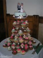 5 TIER WEDDING ROUND CIRCLE FAIRY CUP CAKE TOWER PARTY STAND FAVOUR