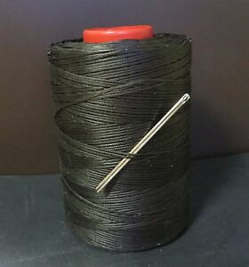 RITZA TIGRE WAXED HAND SEWING THREAD 0.6m FOR LEATHER//CANVAS /& 2 NEEDLES HAVANA
