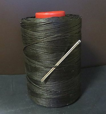 RITZA TIGRE WAXED HAND SEWING THREAD 0.8mm FOR LEATHER//CANVAS /& 2 NEEDLES  GREY