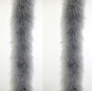 Snow WHITE 2 Yards 22 Grams Costume//Art//Halloween 2 Pcs MARABOU FEATHER BOAS