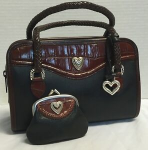 Image Is Loading Vintage Brighton Purse With Kisslock Change Black