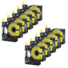 10x For Dymo Rhino 42005200 Heat Shrink Tube 18054 Industry Label Tape 38x5