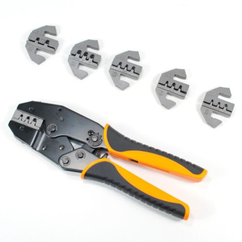 Includes 6 Quick Change Dies TGR Deutsch Terminal Ratcheting Crimping Tool