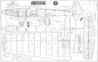 """Dmi Aristokrat 56 1/2"""" Span Linee Di Controllo Piano Stunt-mostra Il Titolo Originale Bianchezza Pura"""