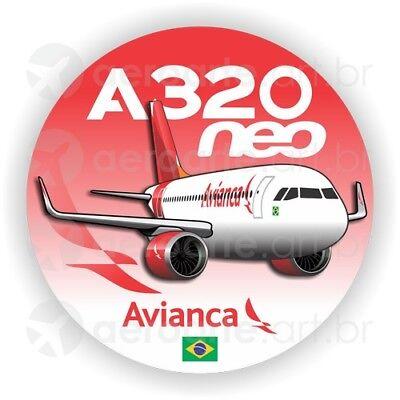Airbus A320neo Avianca aircraft sticker