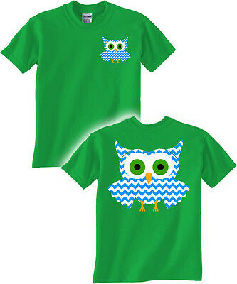 Chevron Owl T Shirt Animal Lovers tee hoot owls