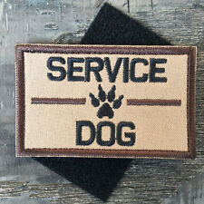 SERVICE DOG K9 PET HARNESS VEST ARMY TACTICAL MORALE DESERT BADGE EMBLEM PATCH
