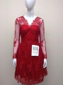 b1600dc2cd1c Chi Chi London Bethan Long Sleeves Lace Dress Red Sz UK- 6-16 £75.00 ...