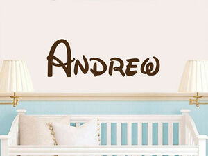 Image Is Loading Disney Name Wall Decal Personalized Baby Vinyl