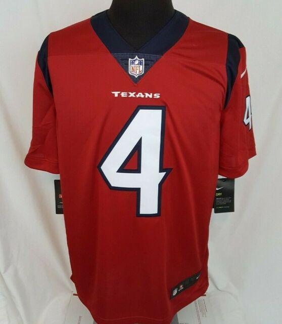 Nike DeShaun Watson #4 Houston Texans Battle Red NFL Sewn Football Jersey Size L