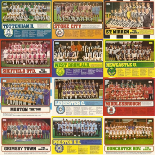 Football-Weekly-News-Magazine-Team-Line-Up-Player-Pictures-Various-1979-1981