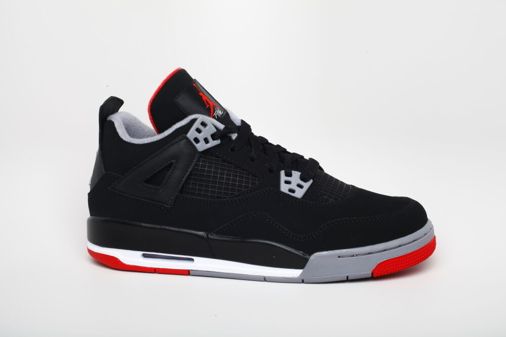 Nike Air Jordan 4 IV Black Red 408452 089 Air Max BG GS sz 6.5