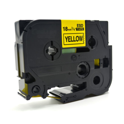 Brother Compatible TZ641 P-Touch 18mm Black on Yellow Label Tape