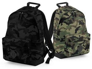 CAMO ARMY JUNGLE MIDNIGHT BAG BG175 BagBase Camouflage 18L Backpack RUCKSACK