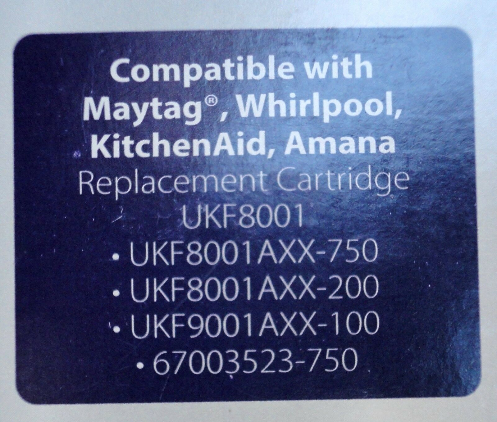 Whirlpool G20EFSB23IX G20EFSB23 G25EFSB23 Wpro UKF8001 fridge water filter filter filter a41828